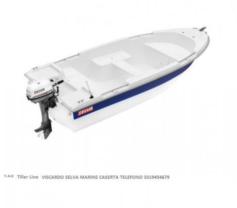 Barca in vetroresina con motore fuoribordo Selva 15 cv