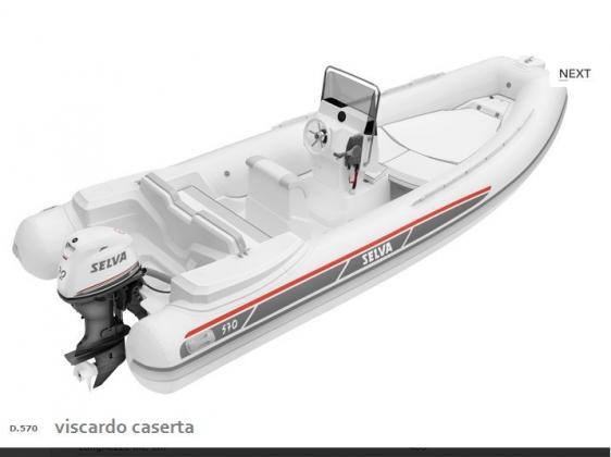 Gommone Evolution Line D.570 con Motore Selva40 Cv